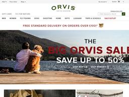 Orvis UK screenshot