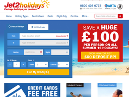 Jet2holidays screenshot