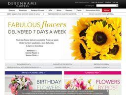Debenhams Flowers screenshot