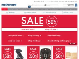 Mothercare screenshot