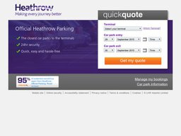 Heathrow Airport Parking screenshot