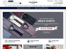 T.M. Lewin UK screenshot