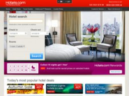 Hotels.com UK screenshot