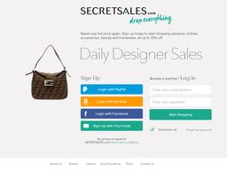 Secret Sales screenshot