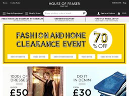 House of Fraser screenshot