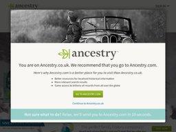 Ancestry.co.uk screenshot