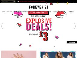 Forever 21 UK screenshot