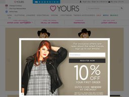 Yours Clothing UK screenshot