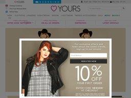 Yours Clothing UK screenshot