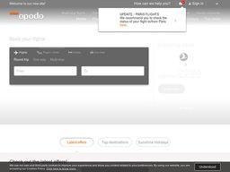 Opodo screenshot