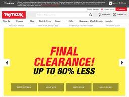 TK Maxx screenshot