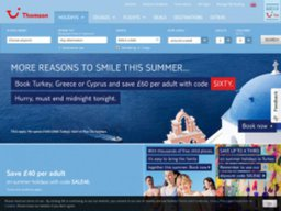 Thomson Holidays screenshot