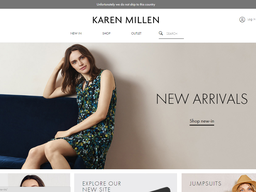 Karen Millen screenshot