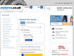 Mytyres.co.uk screenshot